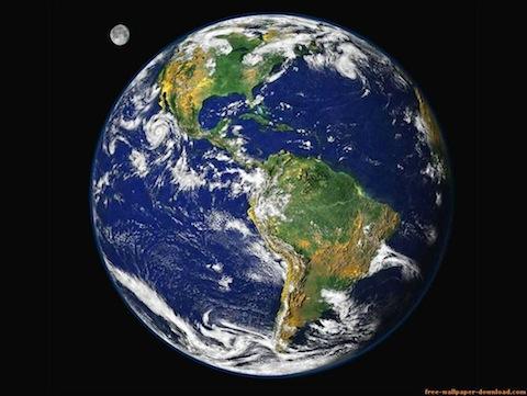 Vista Desde Satélite De La Tierra Tecnología Technology